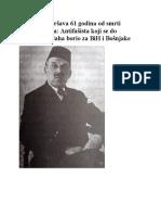 Antifašista Koji Se Do Posljednjeg Daha Borio Za BiH i Bošnjake