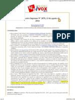 Bolivia_ Decreto Supremo