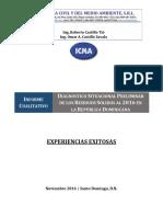 Diagnóstico Situacional de Los Residuos Sólidos Al 2016 en La Rep. Dom.