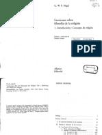 Hegel, G. W. F. - Lecciones sobre la filosofia de la religion, 1. Introduccion y Concepto de religion.pdf