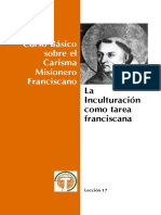 Lección 17 - La Inculturación Como Tarea Franciscana