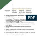Bank Account Master Workflow