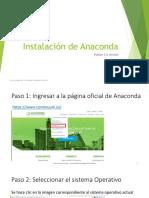 Instalación de Anaconda