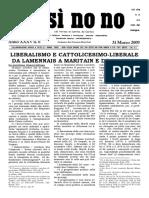 Liberalismo e Cattolicesimo Liberale, Si Si No No, 31 Marzo 2009
