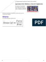 Propiedades Materiales Importantes de Los Tubulares y Sarta de Completacion
