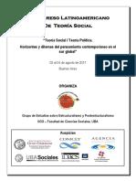 Programa II congreso latinoamericano de teoría social
