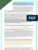 The Global Economic Crisis - Let it Develop not Destroy You