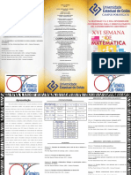 Folder Semanda Da Matemática 2017