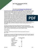 FHWA Report on PLAs 021713