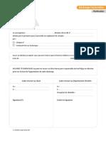 Décharge Facturation (Particulier)