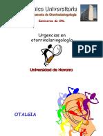 Urgencias en otorrinolaringologia