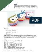 Crochet Owl Ornament Pattern