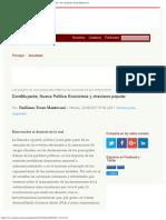 Constituyente, Nueva Política Económica y Chavismo Popular - Por Emiliano Teran