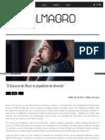 Juan Grabois Discurso Macri Populismo