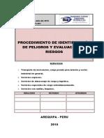 Seg-ps-001 Identificación de Peligros y Evaluación de Riesgos