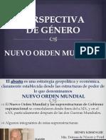 IDEOLOGÍA DE GÉNERO Y NUEVO ORDEN MUNDIAL