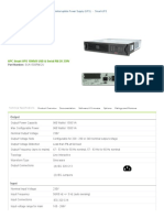 Buy APC Smart-UPS 1500VA USB & Serial RM 2U 230V - Technical Specifications and Information _ APC