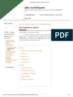 Paramétrage Du Logiciel     XFlow_ Projets Numériques