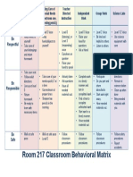 classroom behavioral matrix