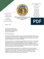 Black Caucus Letter on Warren Love