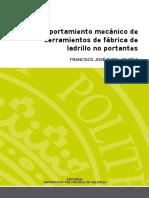 Comportamiento Mecánico de Cerramientos de Fábrica de Ladrillo No Portantes Politecnico de Valencia