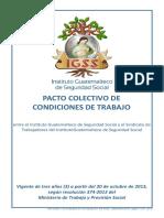 Pacto Colectivo Condiciones de Trabajo IGSS Resolución 374 2013