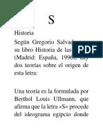 Letra S Historia
