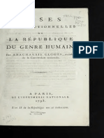 Bases Constitutionnelles de La République Du Genre Humain (1793)