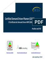 Certified Demand Driven Planner (CDDP) El Certificado de Demand Driven MRP (DDMRP) Position and Pull