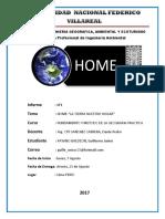 informe N°1 HOME-La tierra nuestro hogar