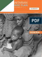 OCHA_Humanitarian Response Plan Summary Nigeria 2017