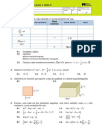 Preparacao Teste Monómios Polinímos Equações Incompletas Segundo Grau