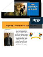 The Monthly ROAR Newsletter August 31