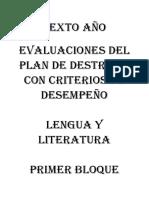 Evaluaciones Lengua y Matemática 6to 2015 Once