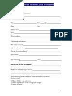Business Audit Worksheet