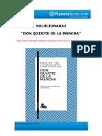 Solucionario Plantilla Don Quijote de La Mancha