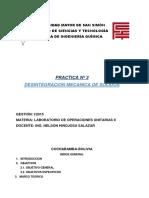 Informe - Desintegracion Mecanica de Solidos