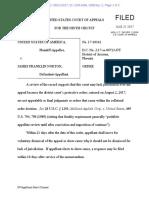US vs Pierce/Norton/et al Appeal - 9th Circuit Order Doubting Reviewability