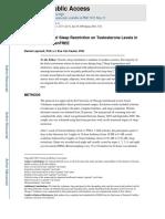 Efectos de Niveles de Testosterona Con Restricción de Sueño