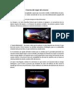 4 Teorias Del Origen Del Universo