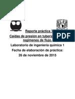 Reporte Práctica 7. Caidas de Presion