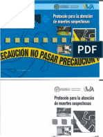 Protocolo Para La Atención de Muertes Sospechosas -Costa Rica