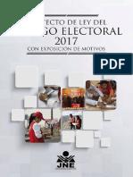 Proyecto de Ley Del Codigo Electoral 2017