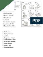 1. Control Acumulativo de Lectura. l a ñ.