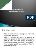 Drug Metabolism - Phase II
