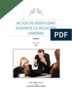 ACTOS DE HOSTILIDAD DURANTE LA RELACIÓN LABORAL.docx
