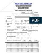 Application Form BRO Multi Skilled Worker Driver Other Posts