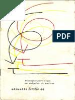 97712025 Manual Olivetti Studio 44 Portugues