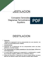 Destilación (Conceptos Generales y Diag. de Equilibrio)