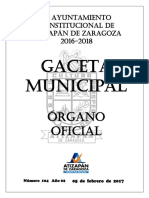 Bando Municipal Atiza 2017
